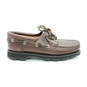 Timberland brown leather loafers - like new 8.5